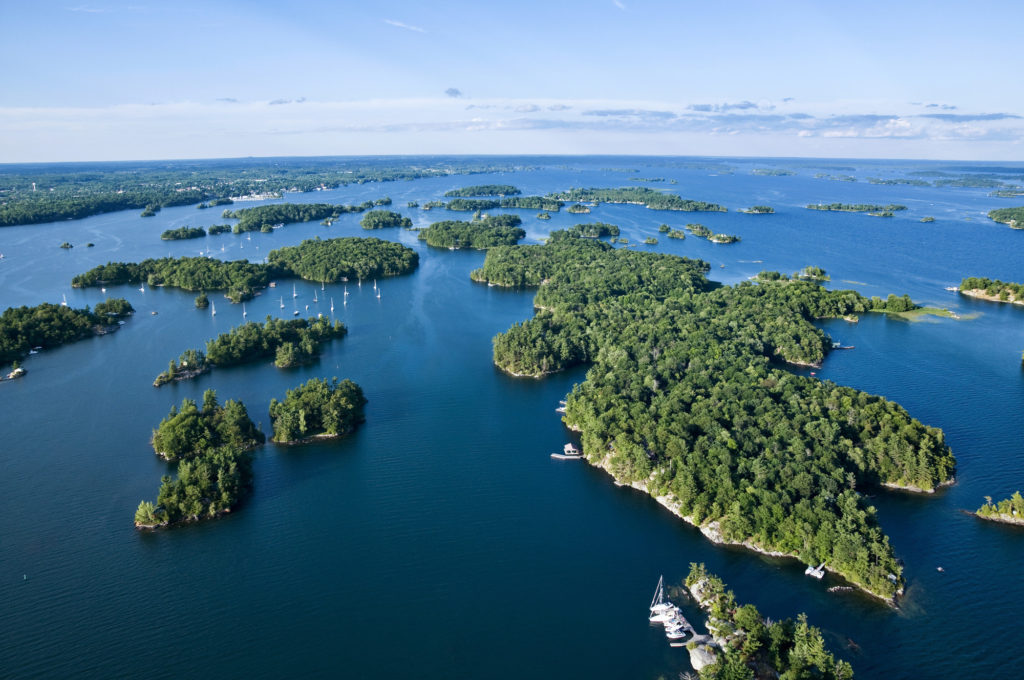 Those islands are billion-year-old mountain peaks. (The Great Waterway)