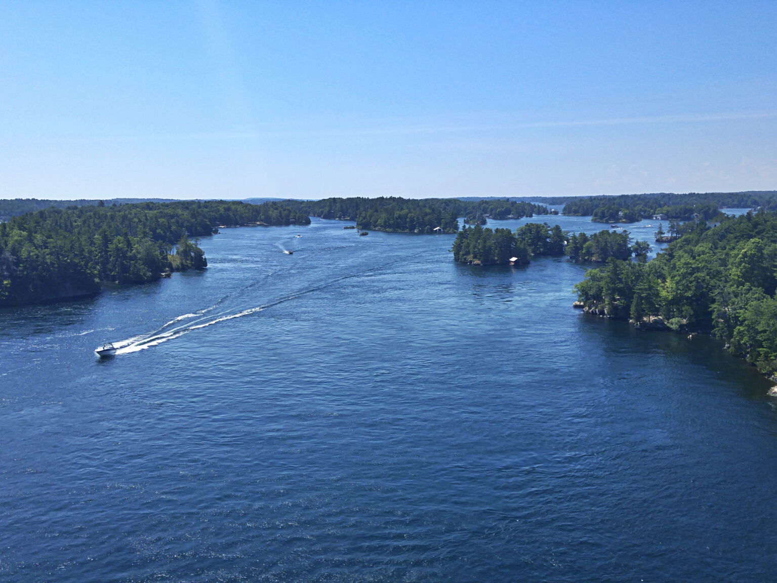 Thousand Islands Bridge to Hill Island and the US.